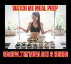 WATCH ME FOOD PREP 20 CLEAN MEALS IN 2 HOURS (Baked yogurt chicken recip... Meal prep and food prep