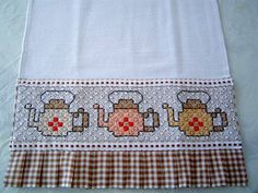 Dish cloth fabric cotton / barred embroidery Fabric Chess This product can be custom in various colors (see sample colors on the album EMBROIDERY FABRIC CHESS) R $ 18.00