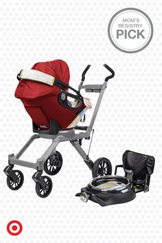 The Orbit Baby G3 Stroller is a Mom's Registry Pick. The parent-friendly design allows you to dock the Orbit car seat at any angle, then use the Orbit SmartHub ring system to smoothly rotate your baby into position. When your outing is done, fold the Orbit stroller with a one-handed, twist-and-lift motion.