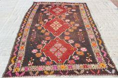 "Turkish Kilim Rug,12""x6.2""FEET,365X188 cm,Large Anatolian Vintage Rug,Ethnic Kilim Rug,Colorful Rug,Home Decor Turkish Rug"