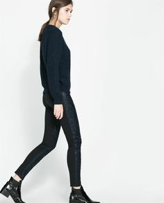 Image 2 of FAUX LEATHER TROUSERS from Zara