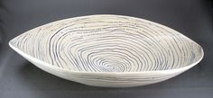 large oval bowl topo design