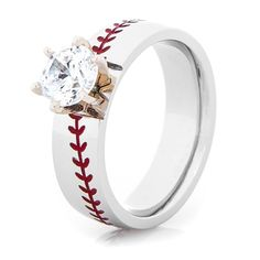 Hit a grand slam with the Cobalt Diamond Baseball Ring, a stylish slugger that will make you in her heart. Baseball stitching and diamond or CZ stones! Baseball Ring, Baseball Jewelry, Baseball Games, Baseball Jerseys, Baseball Equipment, Baseball Mom, Baseball Stuff, Baseball Socks, Softball Stuff