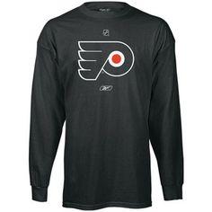 Reebok Philadelphia Flyers Black Primary Logo Long Sleeve T-shirt  Philadelphia Flyers 7e0e059e8