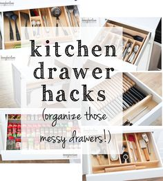 Organize your kitchen drawers for New Years with these kitchen drawer hacks!