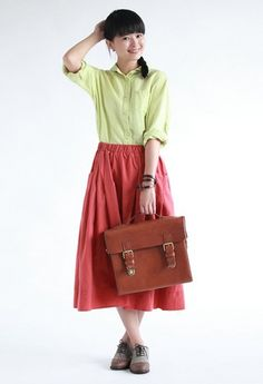 Wholesale Simple & Youthful Pure Color Doll Collar Long Sleeve Loose Blouse----Green top dresses