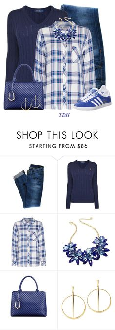 """Adidas Gazelle Sneakers"" by talvadh ❤ liked on Polyvore featuring Hudson Jeans, Polo Ralph Lauren, Rails, Kate Spade, Relaxfeel, Lana and adidas"