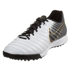 601eff3c650 Nike Tiempo Legend X VII Academy TF Artificial Turf Soccer Shoes  White Black Metallic
