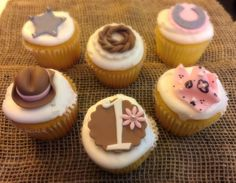 Cowgirl Edible Fondant Cupcake Toppers - 12 Pieces by Sugar Love & Happiness on Gourmly