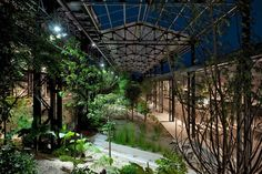 Jardin des Fonderies, During the night - Nantes, France