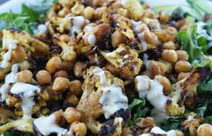 Spice Roasted Cauliflower Salad WITH CUMIN MUSTARD DRESSING