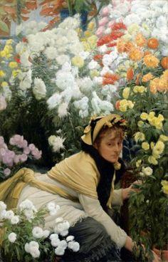 James Tissot Paintings Le Bal | James Tissot, Chrysanthèmes, vers 1874-1876.