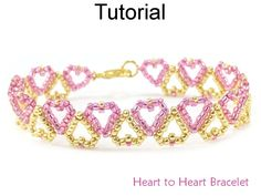 Beaded Heart Bracelet with Seed Beads Jewelry Making Pattern Tutorial by Simple Bead Patterns | Simple Bead Patterns