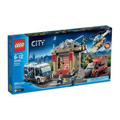 Lego City - Asalto al Museo; ¡Los ladrones están robando el museo!  Pero no lo tendrán tan fácil ya que la policía cuenta con un helicóptero y la camioneta especial que está a punto de llegar para arrestarlos. Incluye 6 minifiguras: 2 ladrones, un piloto de la Policía Especial, un conductor y 2 agentes de la Policía Especial... En http://www.opirata.com/lego-city-asalto-museo-p-26331.html