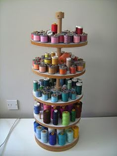 Are you looking for creative ways to storage basic sewing and quilting supplies like threads, fabric tools and patterns. surfed the web to find the most unique and creative storage solutions designed to get your sewing room in order. Thread Storage, Sewing Room Storage, Sewing Room Organization, Art Storage, Creative Storage, Sewing Rooms, Sewing Spaces, Ikea Storage, Fabric Storage