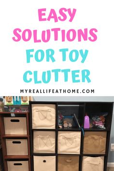 Kids Toys - Here's some easy ways to organize and sort kids toys using things you may already have in your home. #organize #organizingtips #organizetoys #toystorage #toyclutter #storage #sort #organizeplayroom #momhacks #declutter #stuffedanimals #legostorage #nerf