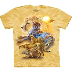ab31b6fe Take a walk on the wild side with the Serengeti Gold Cheetahs Kids T-Shirt  from The Mountain. Shop our huge selection of zoo animal tees and wear one  every ...