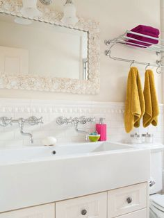 If you prefer a light and bright bathroom, add interest to the room with texture: http://www.bhg.com/bathroom/small/small-bathroom-decorating-ideas/?socsrc=bhgpin021914layertonaltexture&page=17