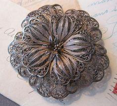 antique silver filigree