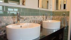 carreaux mosaique imitant cailloux pour la meilleure salle de bain