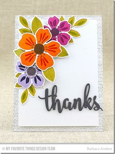 Flashy Florals Card Kit - Barbara Anders  #mftstamps