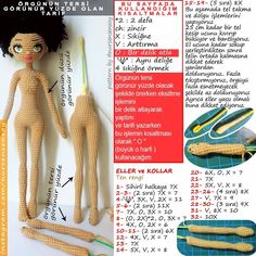 Lütfen paylaştığım görselde ve aşağıda yazdığım açıklamala Knitted Dolls, Crochet Dolls, Amigurumi Doll, Amigurumi Patterns, Crochet Needles, Knit Crochet, Crochet Doll Pattern, Crochet Patterns, Handmade Soft Toys
