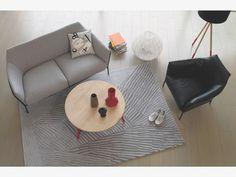 ETCH GREYS Wool Large grey wool rug 170 x 240cm - HabitatUK