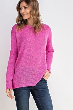True to Size Easy Fit Lightweight Spring Tops, Label, Pullover, Free Shipping, Boutique, Sweaters, Pink, Color, Products