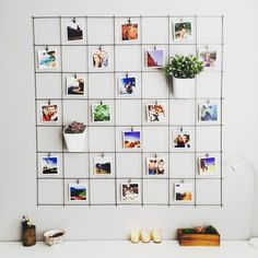 51 Best DIY Decor Ideas for Your Home Using Wire Wall Grid - GODIYGO.COM Wire wall grids are an organizational basic. It can then be outfitted and customized to suit any space in your … Decoration Photo, Photo Wall Decor, Diy Wand, Diy Photo, Home Decor Bedroom, Diy Room Decor, Bedroom Wall, Office Wall Decor, Bed Room