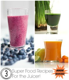 Super Food Immune Booster Recipes For the Juicer!