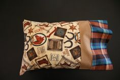 Western Wanted Travel Pillowcase by RusticRanchHands on Etsy