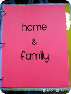 The Nest Effect: Home Management Binder: Home & Family and Birthdays, Holidays, & Gifts Categories