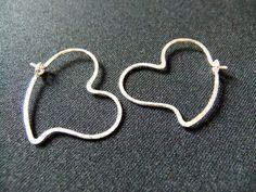 Small Heart Shaped Hoops Sterling Silver Heart by NKCollections, $30.00 Heart Earrings, Hoop Earrings, Hand Shapes, Small Heart, Etsy Earrings, Handcrafted Jewelry, Sterling Silver, Handmade Chain Jewelry, Heart Pendants