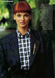 Linda Evangelista, Vogue September 1991