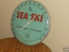 Vintage Sea and Ski Suntan Lotion  Advertising Thermometer