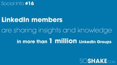 LinkedIn members are sharing insights and knowledge in more than 1 million LinkeIn Groups