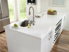 Schon Arbeitsplatte Corian Küche Dupont Schwarz Weiss Spüle Küchenarmatur Matt  #wohnideenkuche #kitchen #DuPont #design #interior | Wohnideen Küche |  Pinterest |u2026