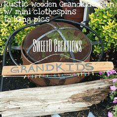 Reclaimed wood rustic grandkids sign by SweetD Creations