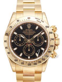 aa54c41531 Rolex Daytona Yellow Gold Bracelet Watch, Black Index Dial. Boca Raton Pawn
