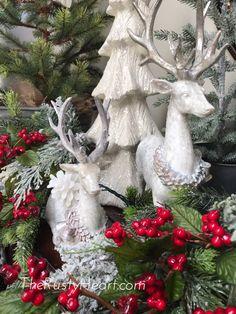 The Rusty Heart- Lantern Swag Custom Lantern Swags Seasonal Lanterns Christmas Displays, Christmas Mantles, Christmas Lanterns, Christmas Ideas, Christmas Decorations, Holiday Decor, Lanterns Decor, Beautiful Christmas, Reindeer