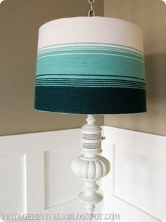 DIY Lampshade Redoround Shade Yarn Spray Adhesivelink To - Diy cloud like yarn lampshade