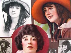 More pictures from the old scrapbook I found at Goodwill: Mabel Normand by litlnemo, via Flickr