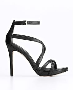 Ann Taylor - AT Heels - Lia Strappy Leather Platform Sandals