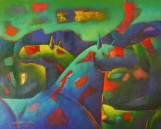 Caballos 73 x 92 cm Acrílico 2014