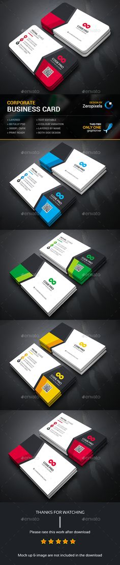 Business Card — Photoshop PSD #logo #green • Available here → https://graphicriver.net/item/business-card/14673637?ref=pxcr