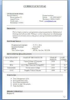 top 10 resume format