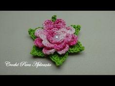 Flor em Crochê Enrolada Linda e Fácil - Crochê Para Aplicação - YouTube