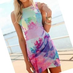 Sexy Women Girl Floral Printed Dress Slim Ball Gown Mini Short Dress  Price: US $8.28  Sale Price: US $6.79  #dressional