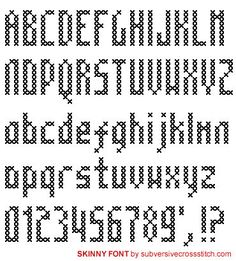 Font: Skinny Font, PDF version