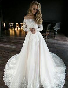 A line wedding dress Olivia by Olivia Bottega. Wedding dress off the shoulder – pinbilder A line wedding dress Olivia by Olivia Bottega. Wedding dress off the shoulder A line wedding dress Olivia by Olivia Bottega. Wedding dress off the shoulder – Wedding Dresses 2018, Bridal Dresses, Christmas Wedding Dresses, Maxi Dresses, Sleeve Wedding Dresses, A Line Wedding Dress With Sleeves, Lace Bridal Gowns, Modest Wedding, Off Shoulder Wedding Dress Lace